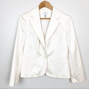 Loft White Jacket Ivory Blazer Petite